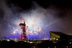 Cerimónia de inauguração olímpica 2012 Foto de Stock