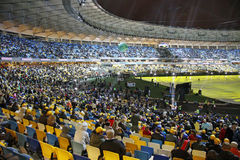 Cerimónia de inauguração olímpica do estádio, Kyiv, Ucrânia fotos de stock royalty free