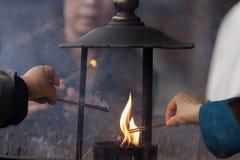 Cerimónia do Buddhism foto de stock royalty free