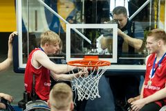 Cerimônia da medalha do campeonato do basquetebol de cadeira de rodas do mundo foto de stock royalty free