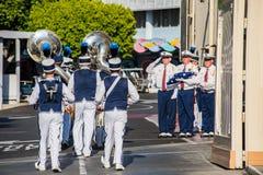 Cerimônia da retirada da bandeira de Disneylândia Foto de Stock Royalty Free