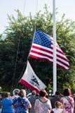 Cerimônia da retirada da bandeira de Disneylândia Imagens de Stock