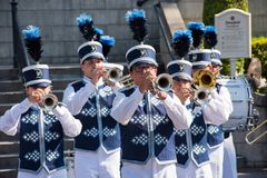 Cerimônia da retirada da bandeira de Disneylândia Imagens de Stock Royalty Free
