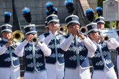 Cerimônia da retirada da bandeira de Disneylândia Fotos de Stock Royalty Free