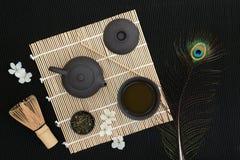 Cerimônia de chá de Sencha do japonês Imagem de Stock