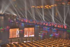 Cerimônia de inauguração Guangzhou China de 2010 Jogos Asiáticos fotografia de stock