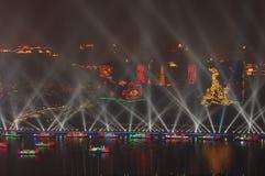 Cerimônia de inauguração Guangzhou China de 2010 Jogos Asiáticos imagens de stock royalty free