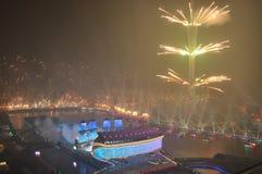 Cerimônia de inauguração Guangzhou China de 2010 Jogos Asiáticos fotografia de stock royalty free