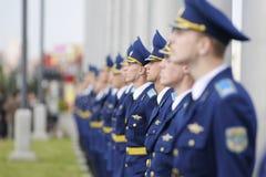 Cerimônia de solene de içar as bandeiras antes do campeonato do hóquei do mundo Fotos de Stock Royalty Free