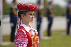 Cerimônia de solene de içar as bandeiras antes do campeonato do hóquei do mundo Fotos de Stock