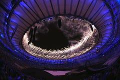 Cerimônia dos Jogos Olímpicos no estádio de Maracana fotos de stock