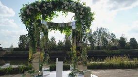 Cerimônia exterior do casamento video estoque