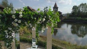 Cerimônia exterior do casamento filme