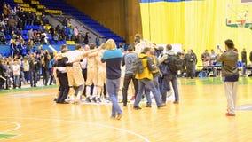 Cerimônia da celebração, final do campeonato F4 do basquetebol, Kiev, filme