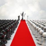 Cerimônia da xadrez do casamento Imagens de Stock Royalty Free