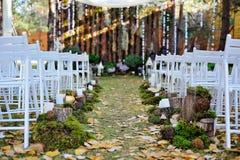 Cerimônia de casamento bonita, estilo rústico foto de stock royalty free
