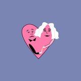 Cerimônia de casamento do coração do amor Imagem de Stock