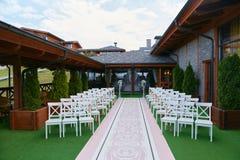 A cerimônia de casamento fora Imagens de Stock Royalty Free