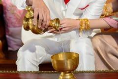 Cerimônia de casamento pelo budista Fotografia de Stock Royalty Free