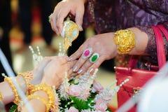 Cerimônia de casamento tailandesa, Tailândia Imagens de Stock