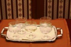 Cerimônia de casamento, vidros do champanhe Fotografia de Stock
