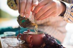 Cerimônia de chá exterior fotografia de stock