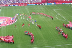 Cerimônia 2015 de fechamento do campeonato do mundo das mulheres de FIFA Fotografia de Stock Royalty Free