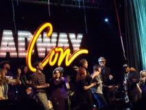 Cerimônia de inauguração da convenção de Broadway imagens de stock