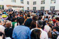 Cerimônia de inauguração da escola Fotos de Stock