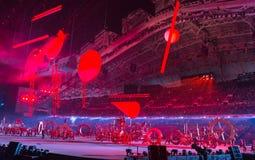 Cerimônia de inauguração dos Jogos Olímpicos de Sochi 2014 Foto de Stock Royalty Free