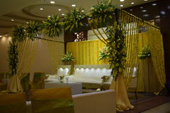 Cerimônia de Mehandi foto de stock