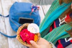 Cerimônia de Puja fotografia de stock