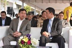 A cerimônia de transferência da locomotiva diesel-bonde à estrada de ferro do estado de Tailândia Fotos de Stock Royalty Free