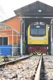 A cerimônia de transferência da locomotiva diesel-bonde à estrada de ferro do estado de Tailândia Fotografia de Stock Royalty Free
