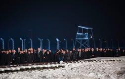 A cerimônia dedicou ao 70th aniversário da libertação de Ausc Foto de Stock Royalty Free
