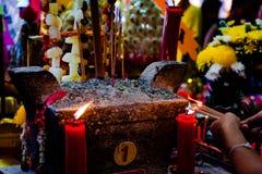 Cerimônia do dote no festival de Ghost com fome chinês (Tor de Por) em velho Fotografia de Stock