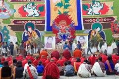 Cerimônia no Punakha Dzong, Punakha, Butão Fotografia de Stock Royalty Free