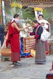 Cerimônia no Punakha Dzong, Punakha, Butão Imagens de Stock Royalty Free