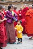 Cerimônia no Punakha Dzong, Punakha, Butão Fotos de Stock