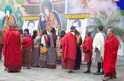Cerimônia no Punakha Dzong, Punakha, Butão Imagem de Stock