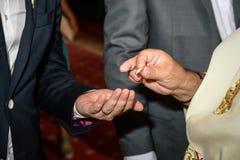Cerimônia ortodoxo do casamento Imagem de Stock