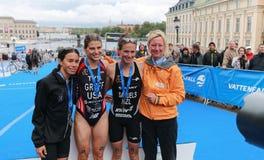 Cerimônia premiada, Sarah Groff, Andrea Hewitt, Nicky Samuels Imagem de Stock
