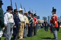 Cerimônias comemorativas no forte York Imagem de Stock