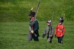 Cerimônias comemorativas no forte York Fotos de Stock Royalty Free