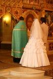 Cerimonia in chiesa Fotografia Stock Libera da Diritti
