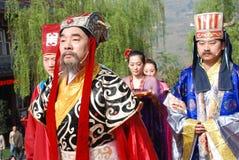 Cerimonia cinese del memoriale pubblico di festival di Qingming fotografia stock