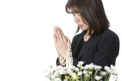 Cerimonia commemorativa buddista, immagine stock