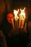 Cerimonia del miracolo santo del fuoco Fotografia Stock