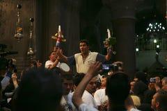 Cerimonia del miracolo santo del fuoco Fotografie Stock