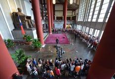 Cerimonia del montaggio della guardia di onore in Sun Yat-sen Memorial Hall Immagine Stock Libera da Diritti